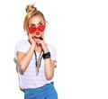 Fashion model girl isolated over white background - PhotoDune Item for Sale