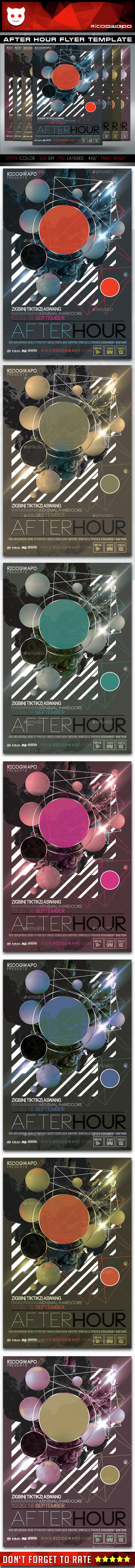 After Hour Flyer Template - Clubs & Parties Events