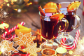 Traditional Christmas mulled wine hot drink. Holiday decorated C - PhotoDune Item for Sale