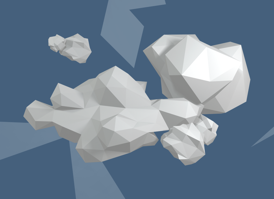 Low Poly Clouds Pack By AlexFrostik