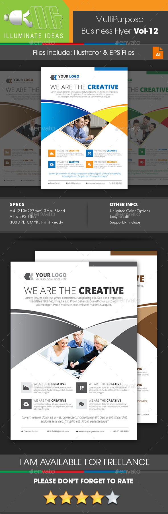 Multipurpose Business Flyer Template Vol-12 - Corporate Flyers