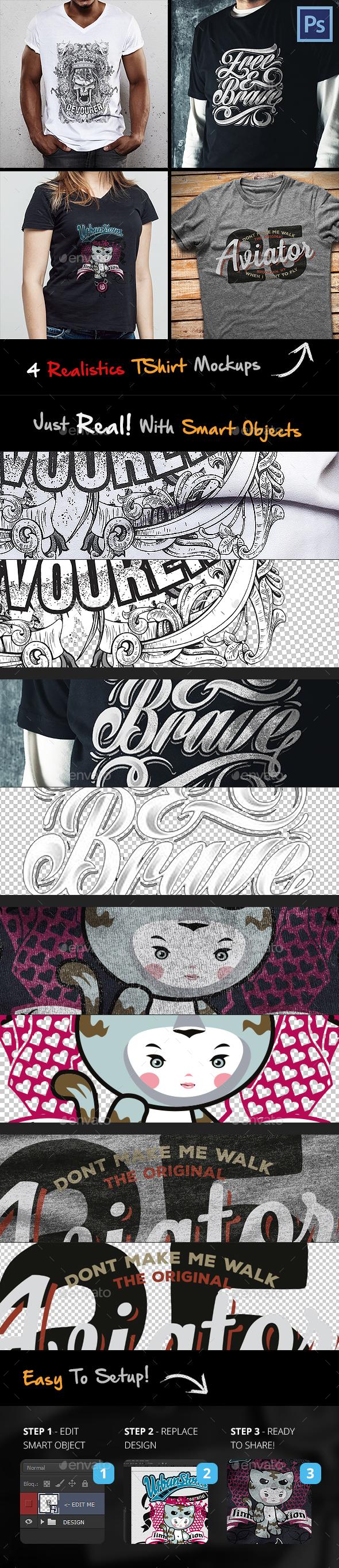 Tshirt Mockup - T-shirts Apparel