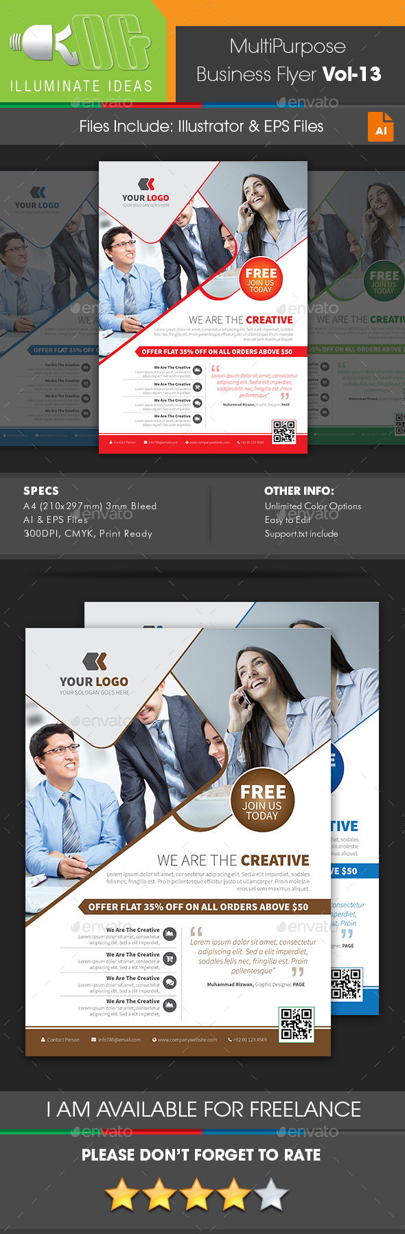 Multipurpose Business Flyer Template Vol-13 - Corporate Flyers