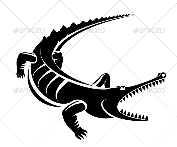 Crocodile as a mascot - Animals Characters