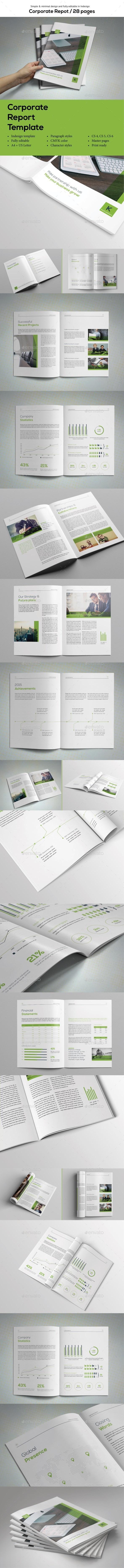 Simple Corporate Report - Informational Brochures