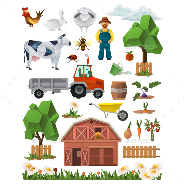 Farm Icons - Industries Business