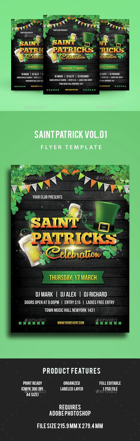 St Patricks Flyer - Events Flyers