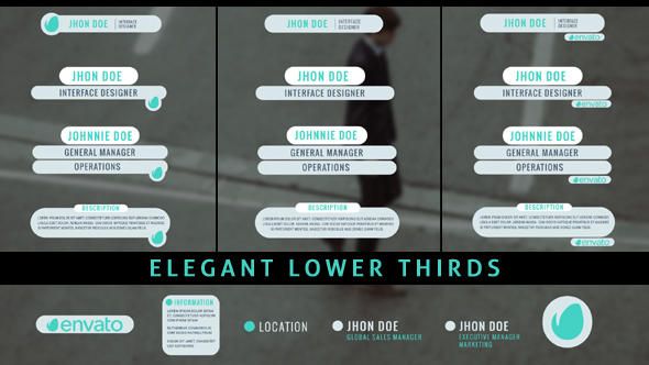 Elegant Lower Thirds By RISEFX