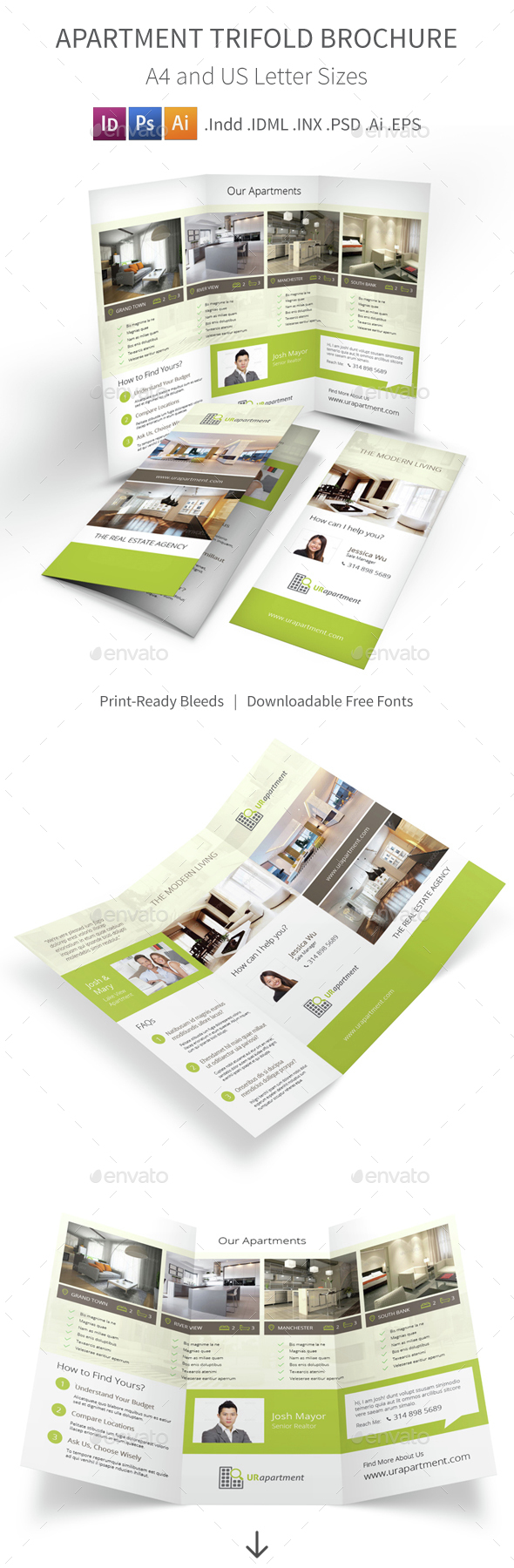 apartment brochure templates - apartment for rent trifold brochure by mike pantone
