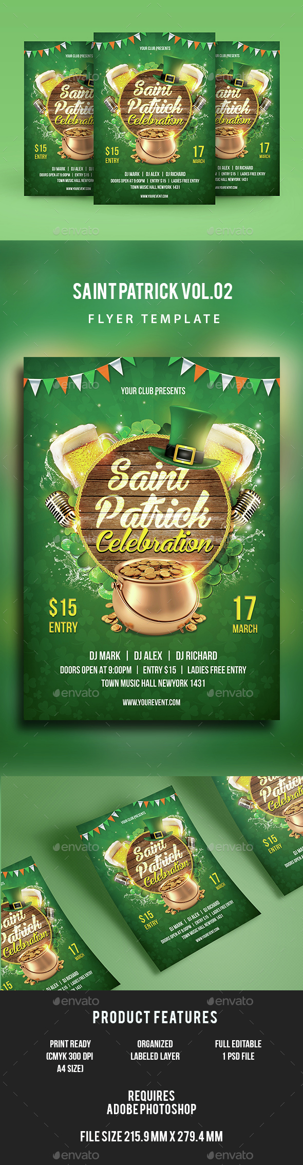 Saint Patrick Flyer Vol.02 - Events Flyers