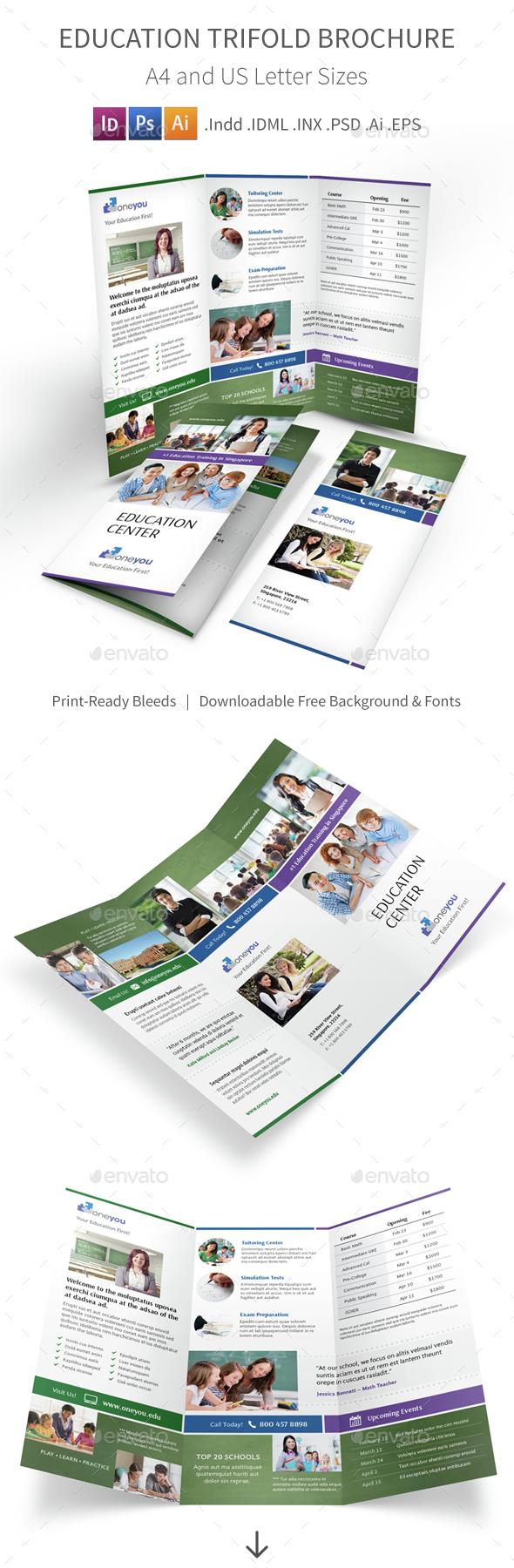 Education Trifold Brochure 4 - Informational Brochures