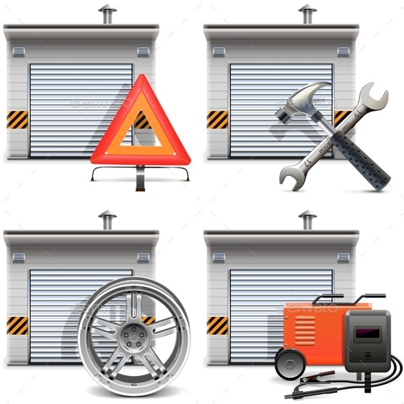 Garage with Spares and Tools - Industries Business
