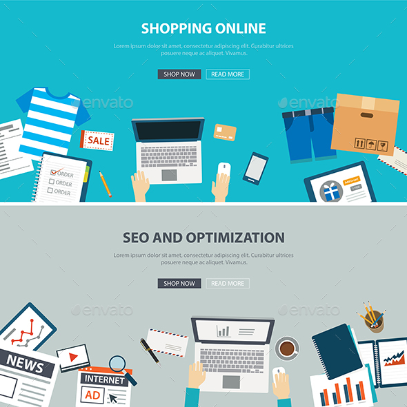 Online Shopping Concept with SEO Optimization - Retail Commercial / Shopping