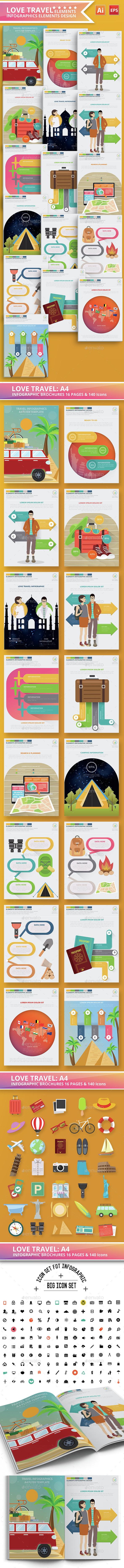 Love Travel Infographics Design - Infographics