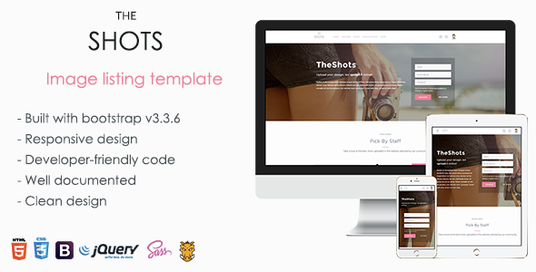 TheShots - Responsive Image Listing Template - Business Corporate