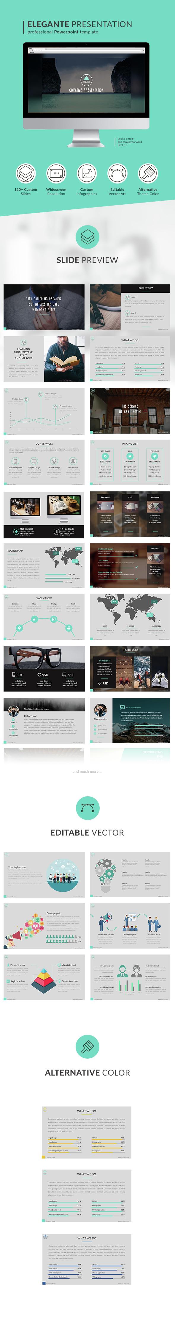 Elegante Powerpoint Presentation - PowerPoint Templates Presentation Templates
