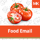 Food Email Template - GraphicRiver Item for Sale