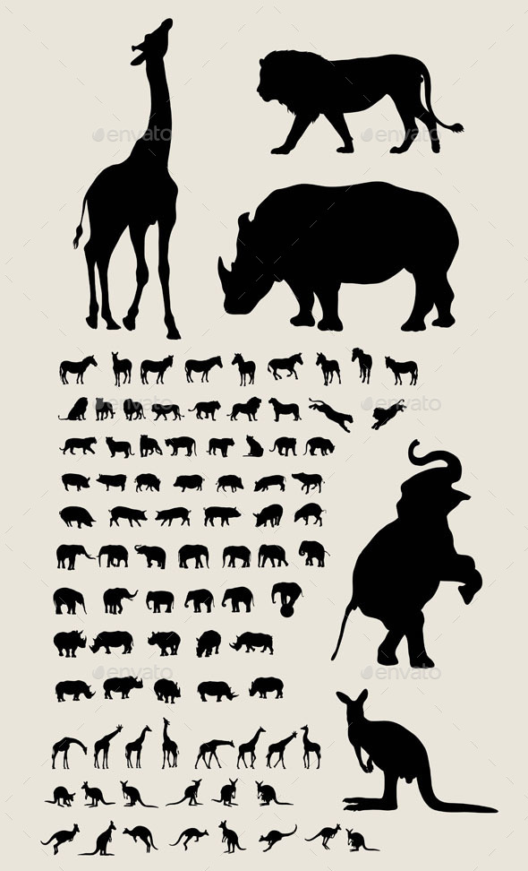 Animal Silhouettes - Animals Characters