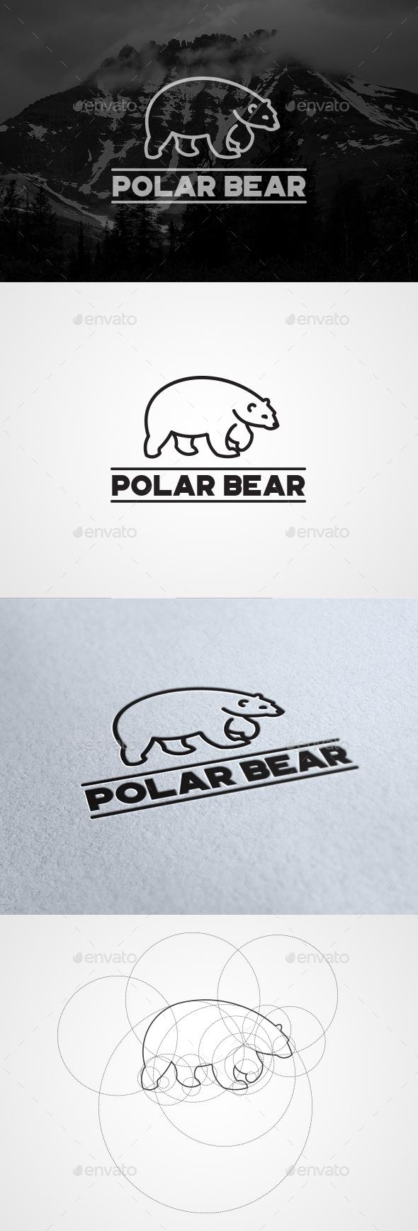 Polar Bear - Animals Logo Templates