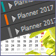 Planner with 3 colors in 2017 - GraphicRiver Item for Sale