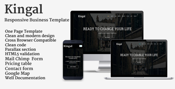 Kingal – Responsive Business Template
