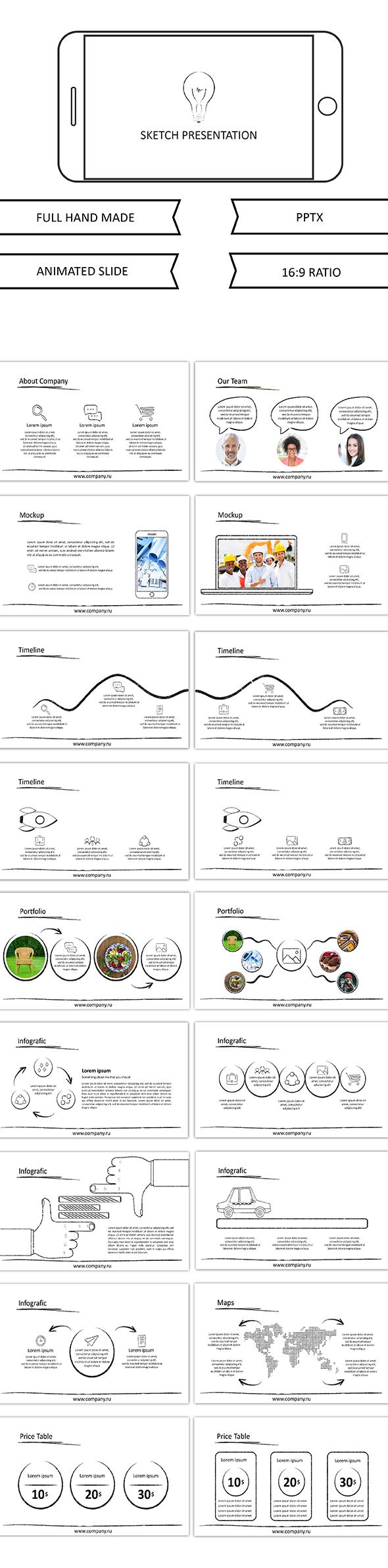 Sketch - Google slide - Google Slides Presentation Templates