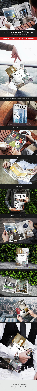 Magazine / Brochure A4 Mock-Up - Print Product Mock-Ups