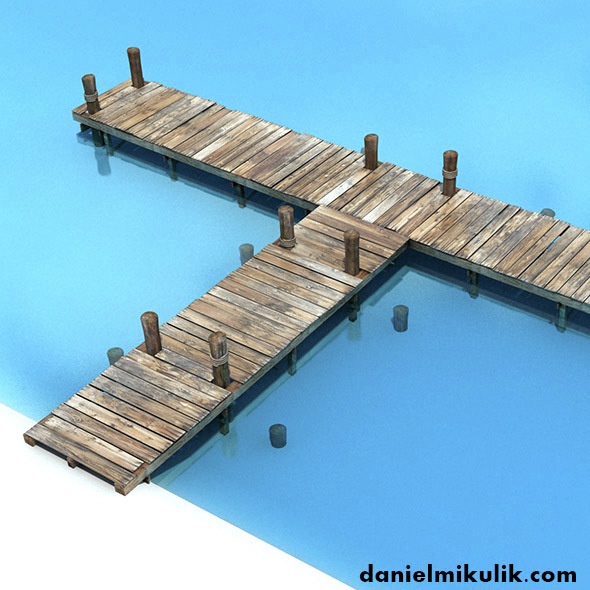 Old Wooden Bridge Low Poly - 3DOcean Item for Sale