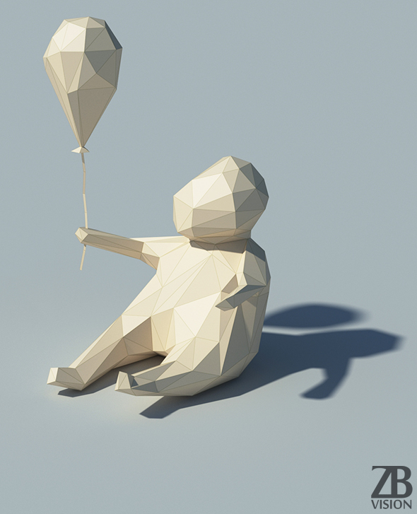 Lowpoly Kid 002 - 3DOcean Item for Sale
