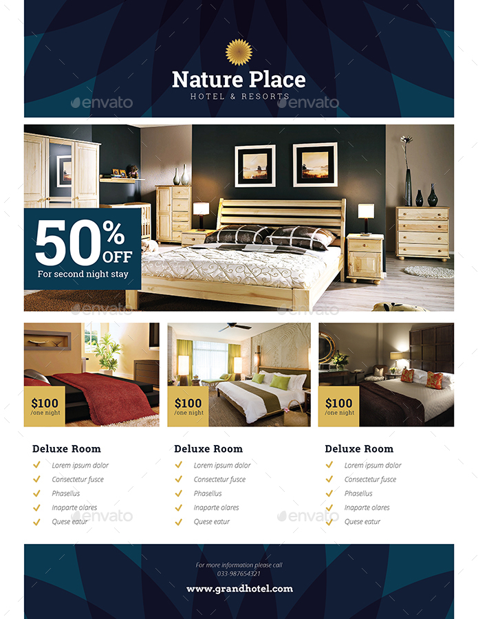 hotel flyer by guuver