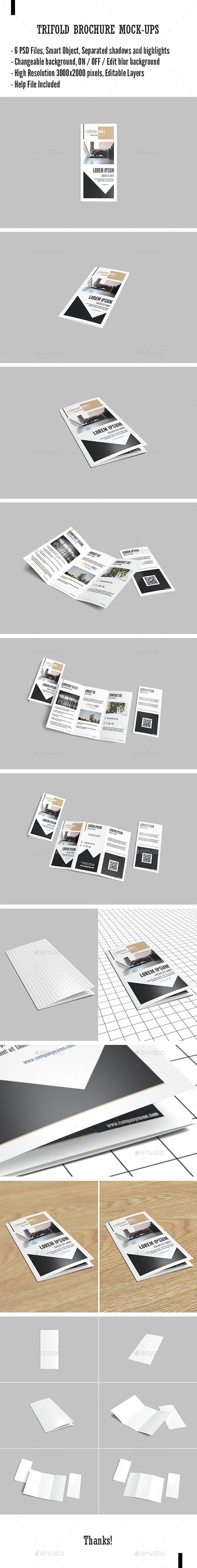 Tri Fold Brochure Mock-Ups - Brochures Print