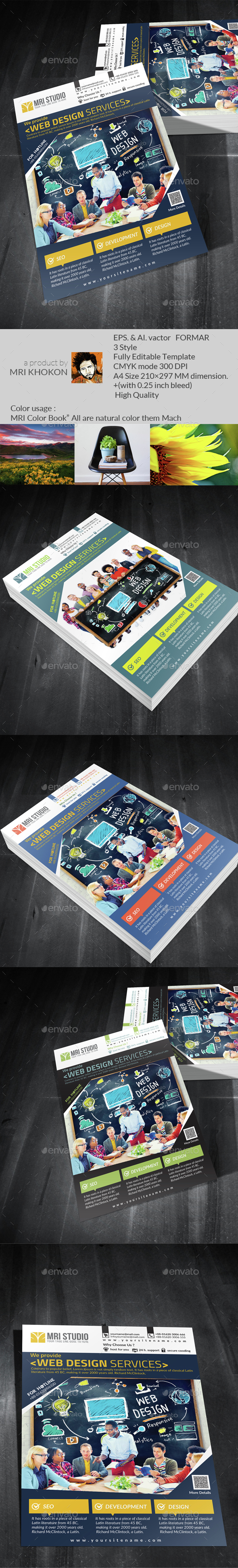 Web Development Flyer - Flyers Print Templates