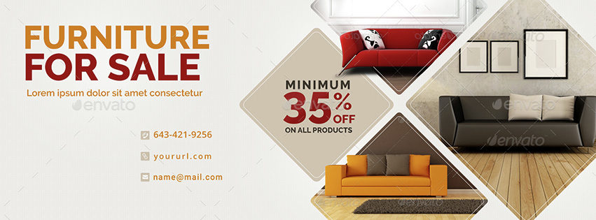 furniture sale. Furniture Sale Facebook Covers - 3 Designs