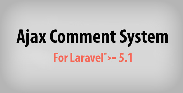 Ajax Comment System for Laravel