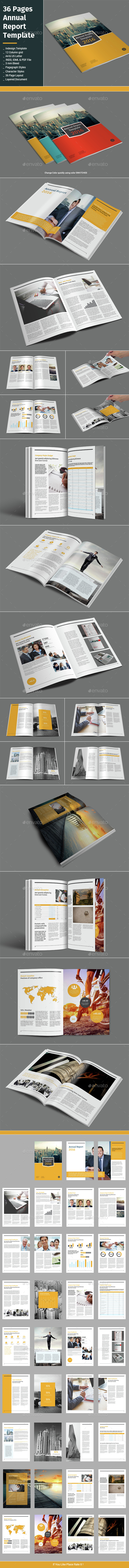 36 Pages Annual Report Tmeplate - Informational Brochures