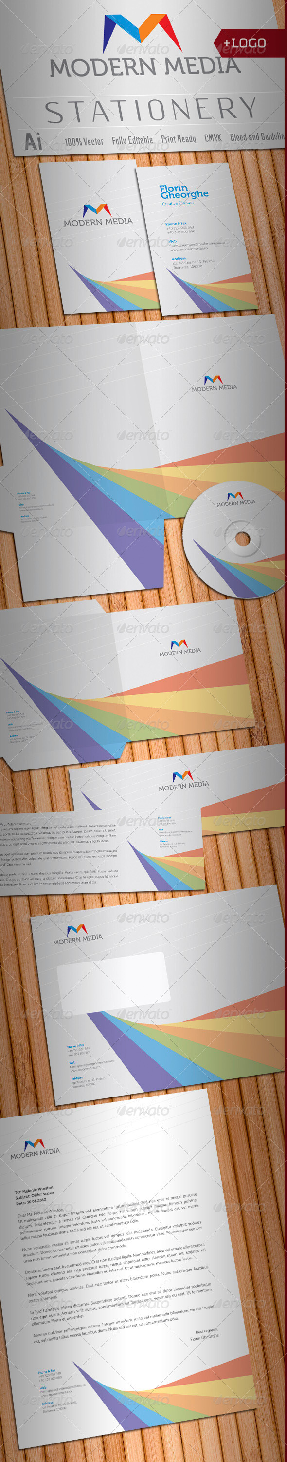 Modern Media Stationery - Stationery Print Templates
