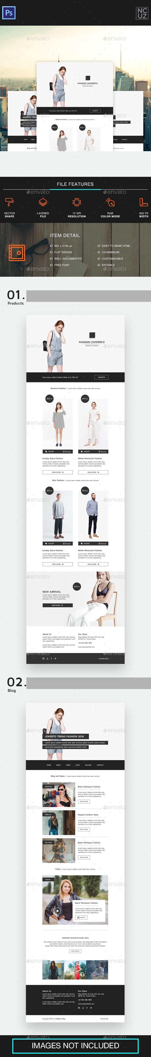 Fashion E-commerce - E-newsletters Web Elements