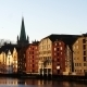 Famous Wooden Colored Houses In Trondheim - VideoHive Item for Sale
