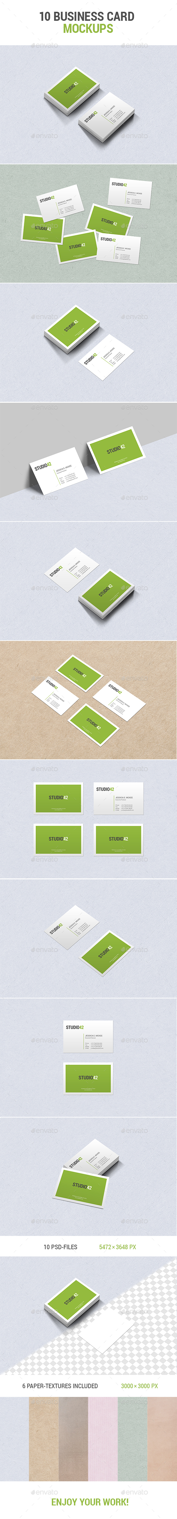 10 Business Card Mockups - Business Cards Print