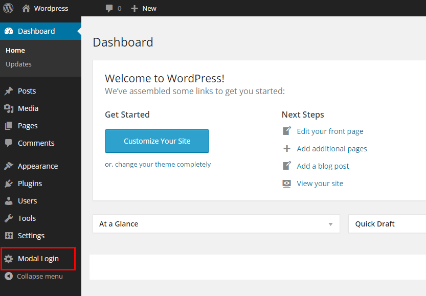 Modal Login Register Forgotten Popup with Google reCaptcha WP Plugin