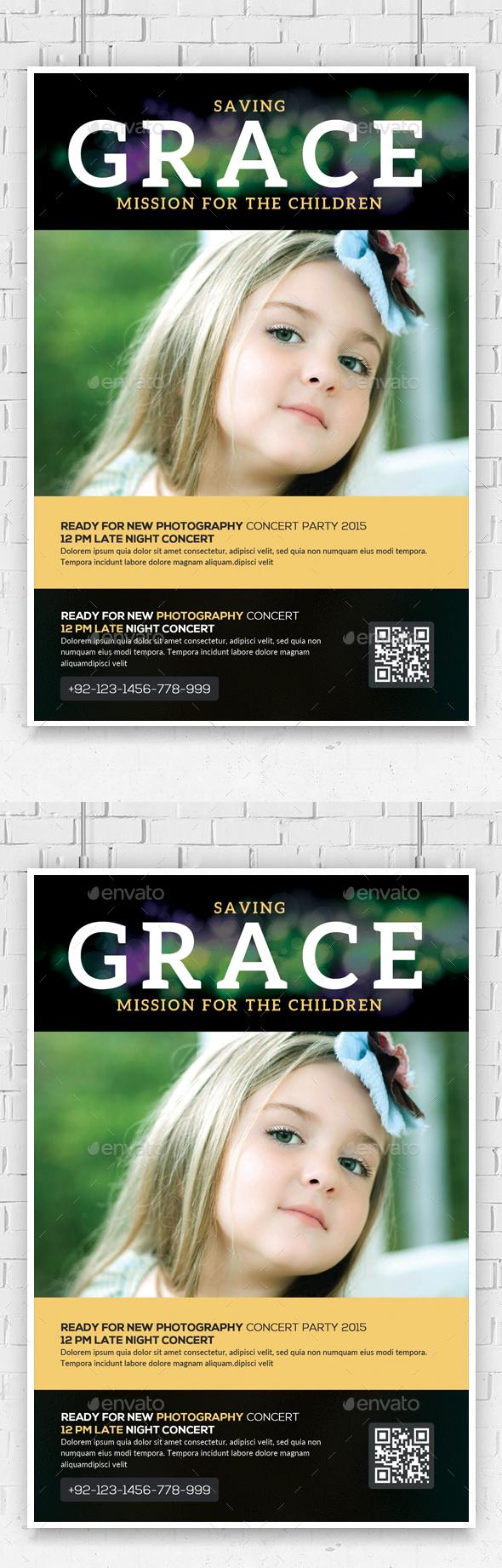 Saving Grace Church Charity Flyer - Church Flyers