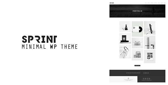Sprint – Minimal WordPress Portfolio