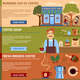 Colorful Coffee Flat Banners Set - GraphicRiver Item for Sale