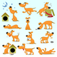 Set of Cartoon Dogs - GraphicRiver Item for Sale
