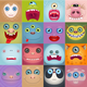 Set of Cartoon Monster Faces - GraphicRiver Item for Sale