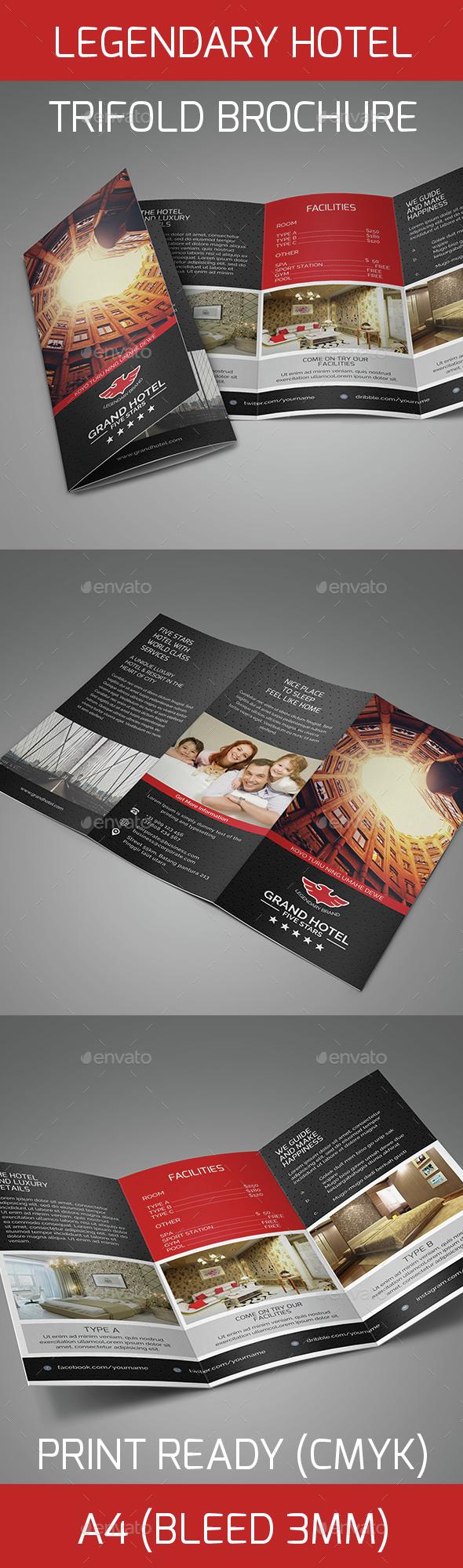 Legendary Hotel Trifold Brochure - Informational Brochures