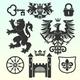 Set of Heraldic Design Elements - GraphicRiver Item for Sale
