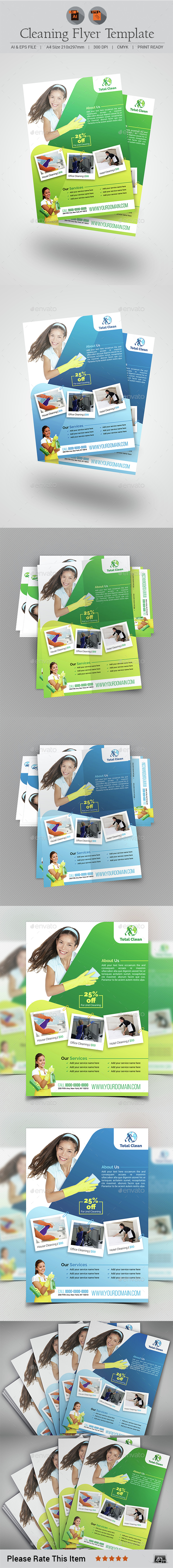Cleaning Flyer Template V4 - Commerce Flyers
