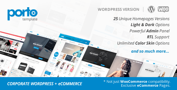 Porto | Responsive WordPress + eCommerce Theme
