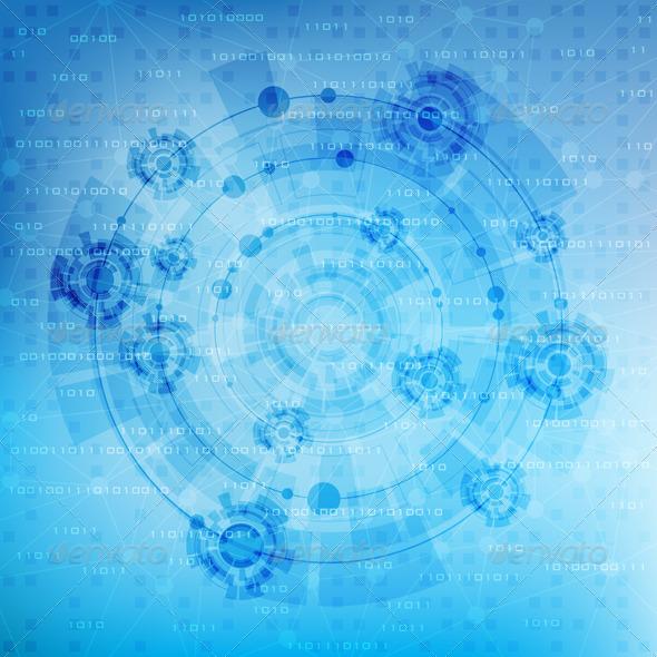Futuristic background - Technology Conceptual